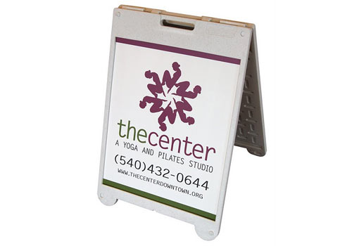 The Center A-Frame Outdoor Sign